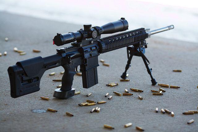 Armalite AR-10 rifle by Timo Vehviläinen, via Flickr
