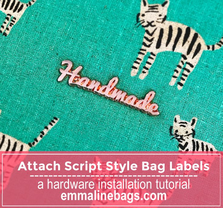 """Find out how easy it is to install our script style """"handmade"""" bag labels. Put in bag labels quickly and easily."""