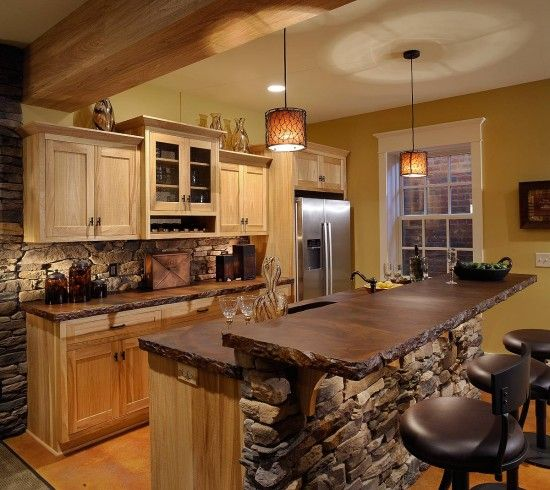 Image Detail For  The Beauty Of Wood Countertops In The Kitchen Rustic Wood  Countertops .