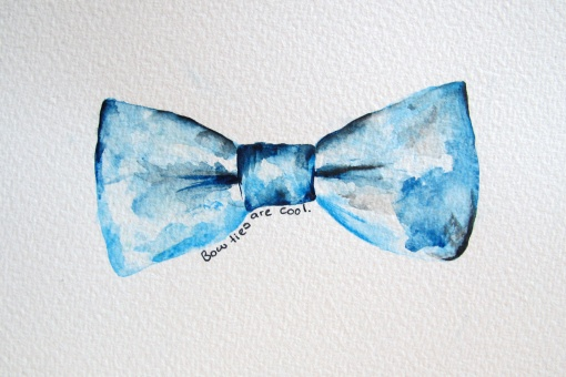 Bow-tie (Dr Who) painting