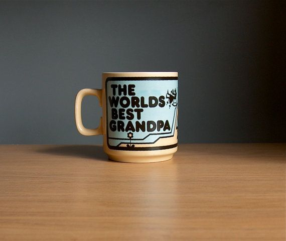 Hornsea Pottery World's Best Grandpa Mug 1970s. by AnEyeOnStyle