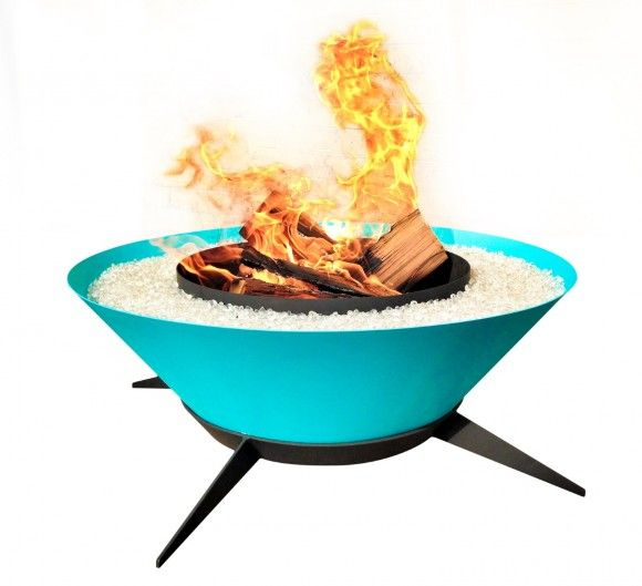 Very retro fire bowl from ModFire.com.  Looks like something the Jetson's would have in their yard - if they had one.