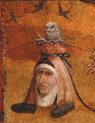 Hieronymus Bosch detail from Triptych of the Hermits (1487-1493)