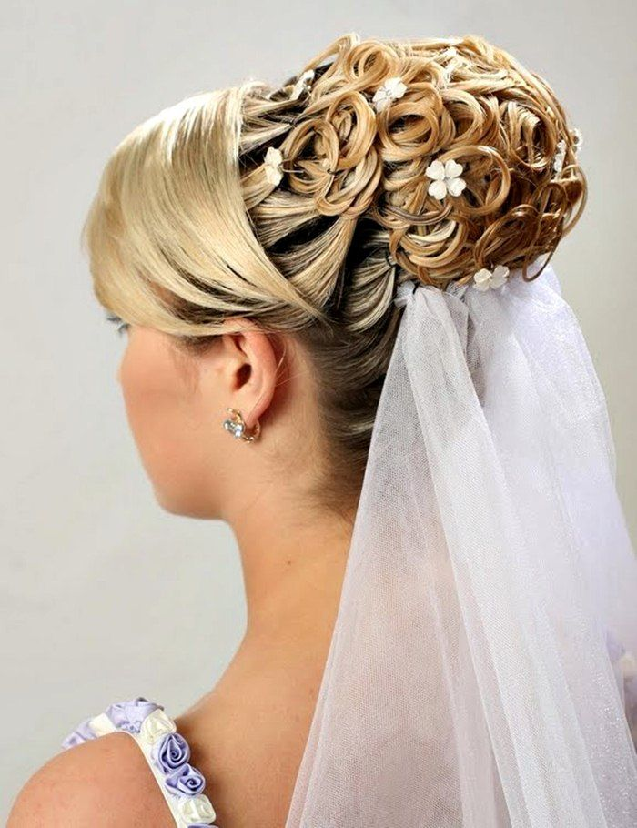 Updo hairstyles for long hair wedding