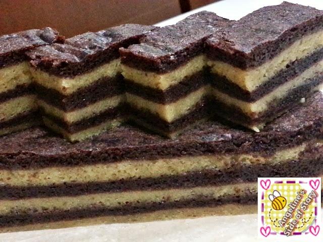 Kek Lapis Kukus - Cocoa Horlicks