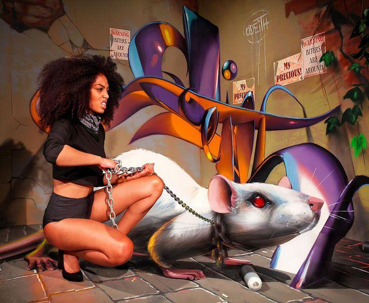 Odeith è un maestro delle illusioni ottiche tridimensionali e ci lascia a bocca aperta con la sua incredibile street art anamorfica