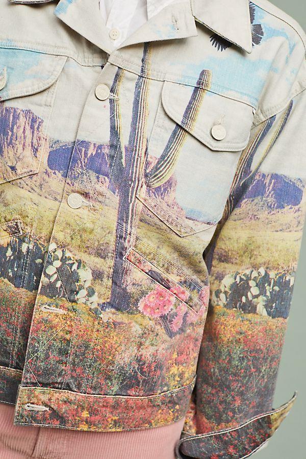 bd22b3c820673 MOTHER The Mountain Drifter Denim Jacket   Cactus Pineapple   Flamingo    Sloth   Llama   Lemon   Watermelon   Denim, Jackets, Fashion