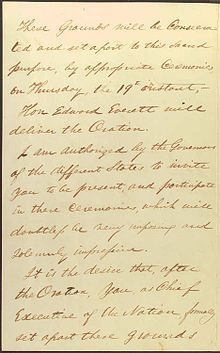 #17 (Required) -- Discuss the importance of the wording of the Gettysburg Address.