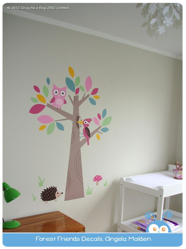 Forest Friends Wall Decal @ Snug as a Bug