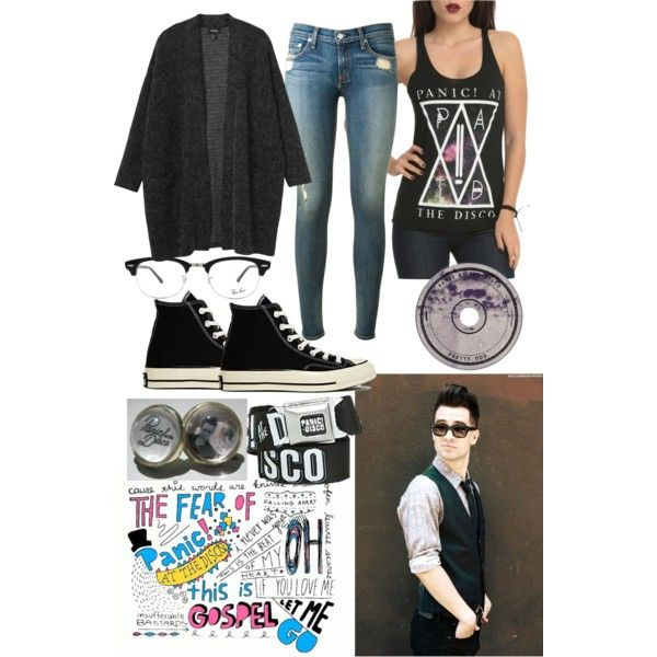 A fashion look from February 2015 featuring Monki cardigans, rag & bone jeans and Converse sneakers. Browse and shop related looks. Fav panic at the disco outfit!