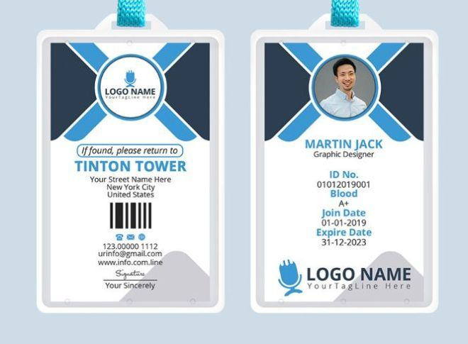 Free Professional Office Id Card Template Psd Titanui Id Card Template Card Template Personal Business Cards