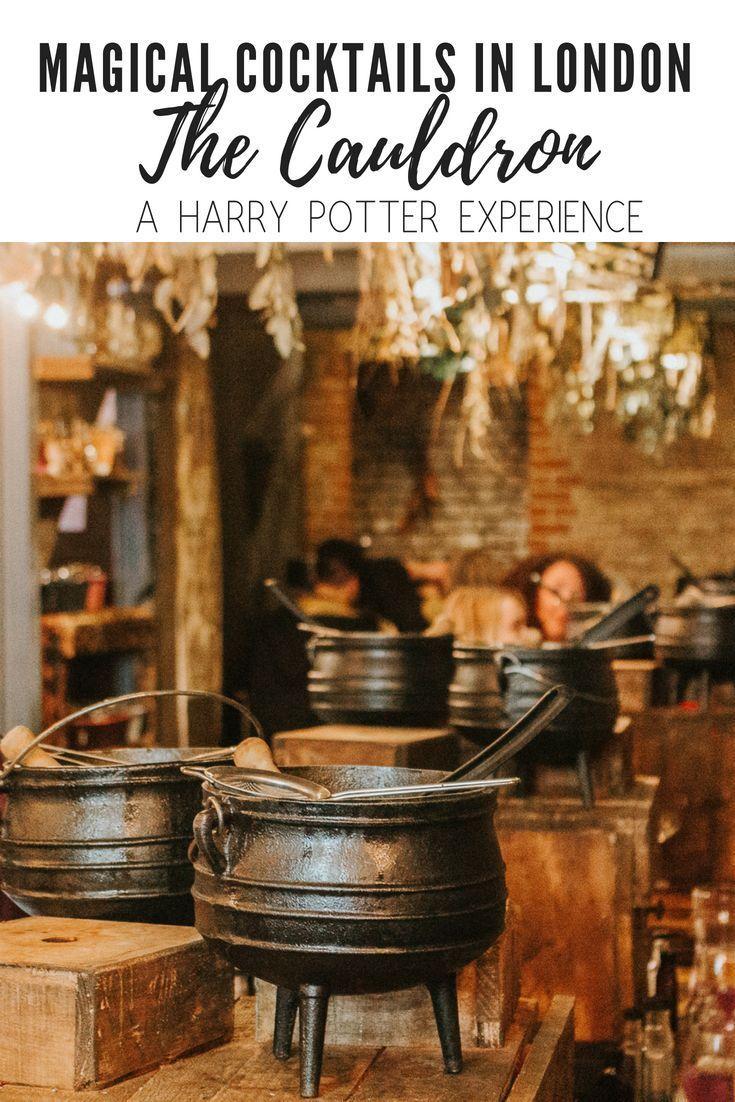 The Cauldron Magical Cocktail Experience Review Harry Potter Experience London Harry Potter London