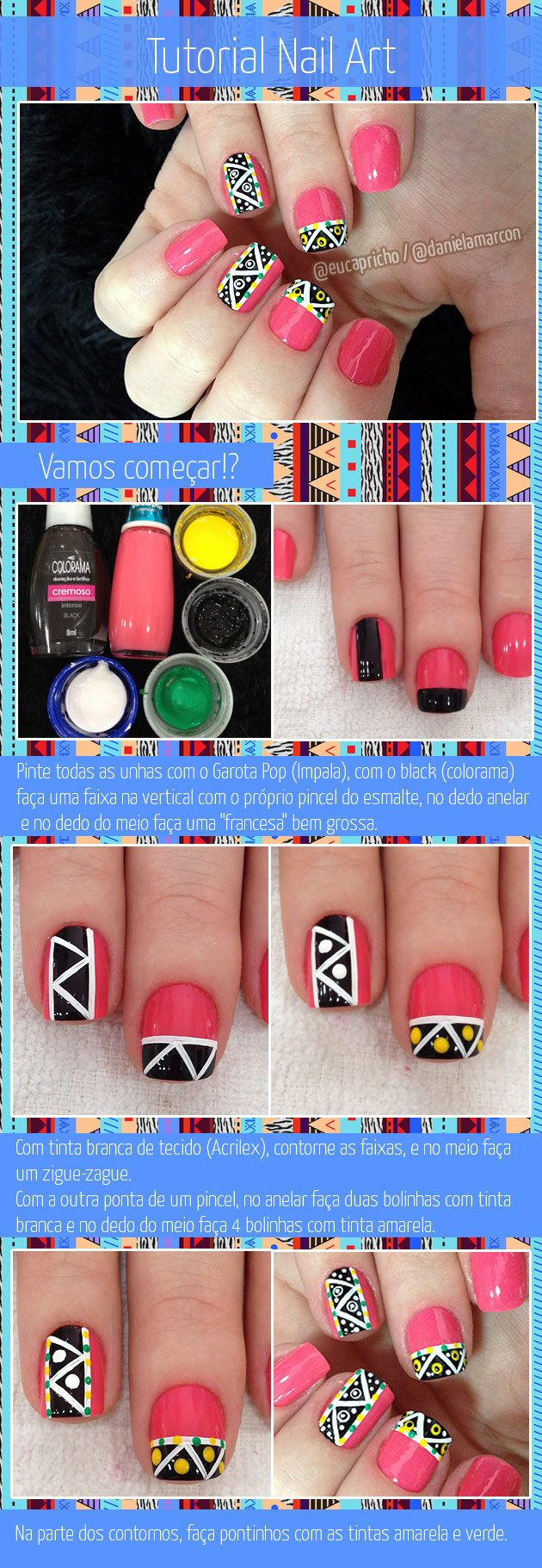 Nail Art - Eu Capricho | Eu Capricho / Tutorial de unha decorada tribal