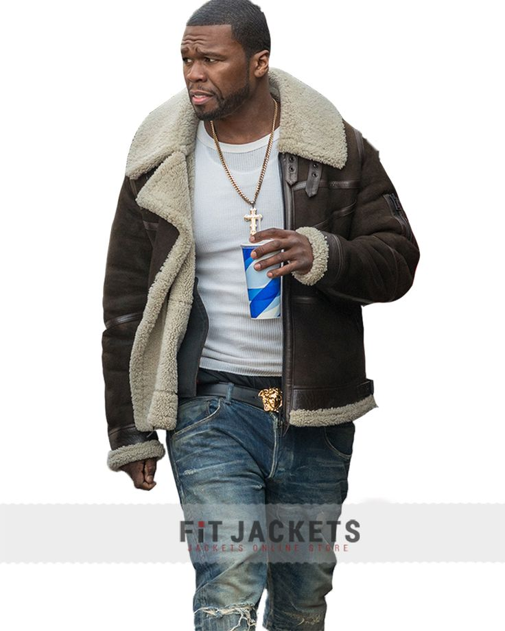 Power 50 Cent Fur Leather Jacket