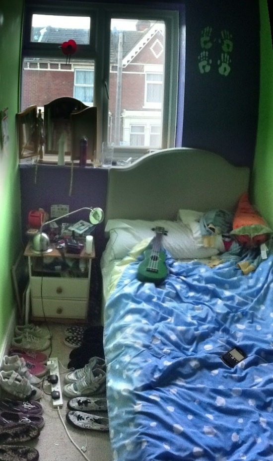 My bed and shoes