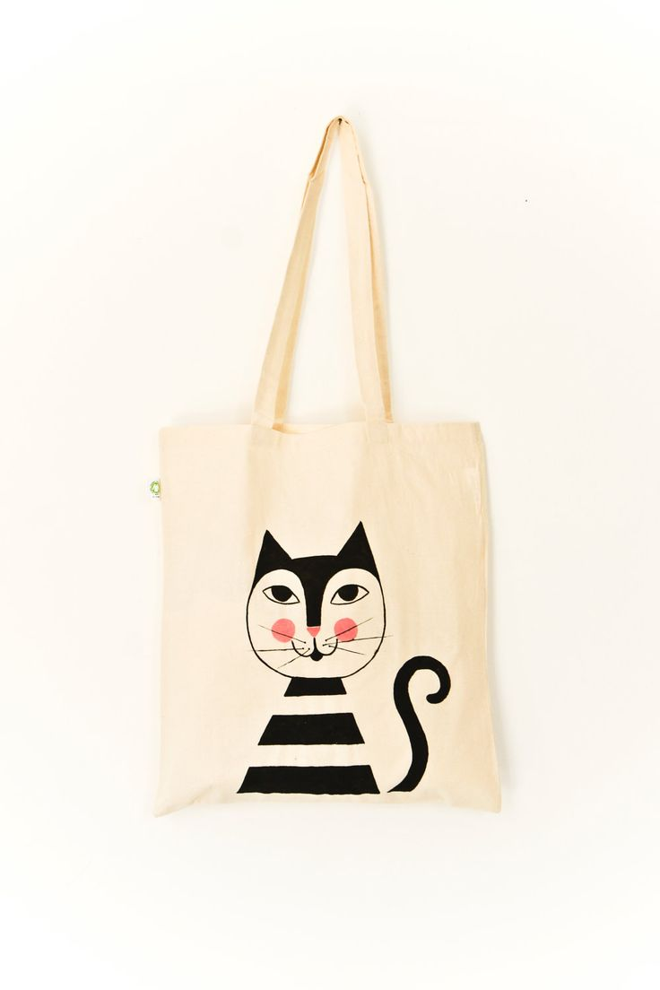 "Organic Cotton Tote Bag ""Moritz"" // handpainted. $21.40, via Etsy."