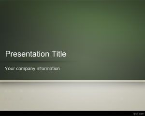 School Blackboard PowerPoint Template PPT Template