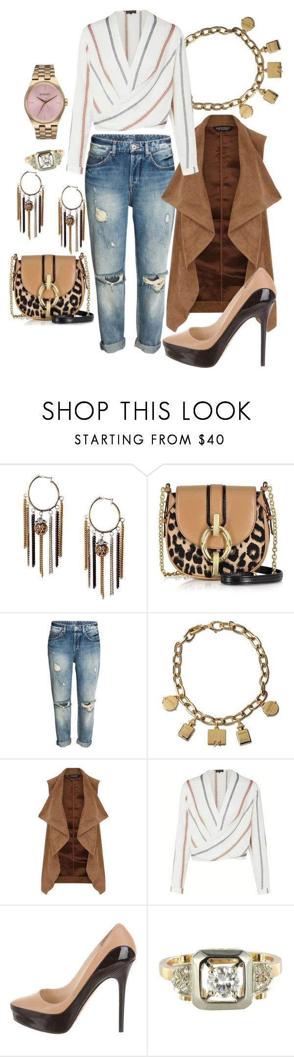 """""""Net Worth"""" by chelsofly ❤ liked on Polyvore featuring Diane Von Furstenberg, Moschino, Dorothy Perkins, Jimmy Choo and Nixon"""