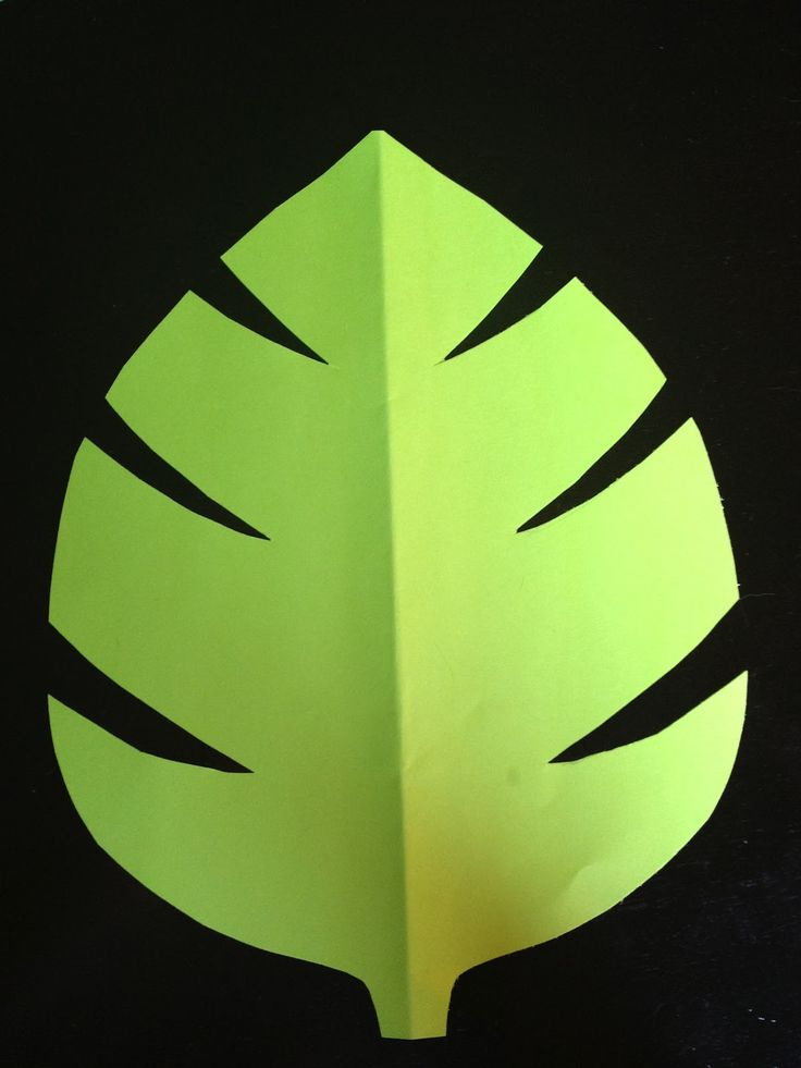 green jungle leaf template | comments: