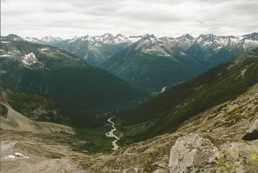 View of Trans Canada Hwy from Perley Rock, Rogers Pass, BC. Canada (40 pieces)