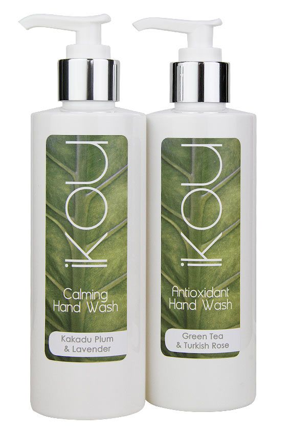 Calming: A luxurious, silky smooth wash, rich in Australian Kakadu Plum Extract to deliver soothing and protective Anti-oxidant benefits while deeply cleansing. Naturally SLS-Free.  Antioxidant: An antioxidant blend to soothe even the most sensitive skin types. SLS-Free with moisturising Vitamin E & B5 benefits. With Green Tea Extract, Rose Geranium Essential Oil.  http://www.ikou.com.au/contents/en-us/d24_iKOU-Foot-and-Hand-Care.html