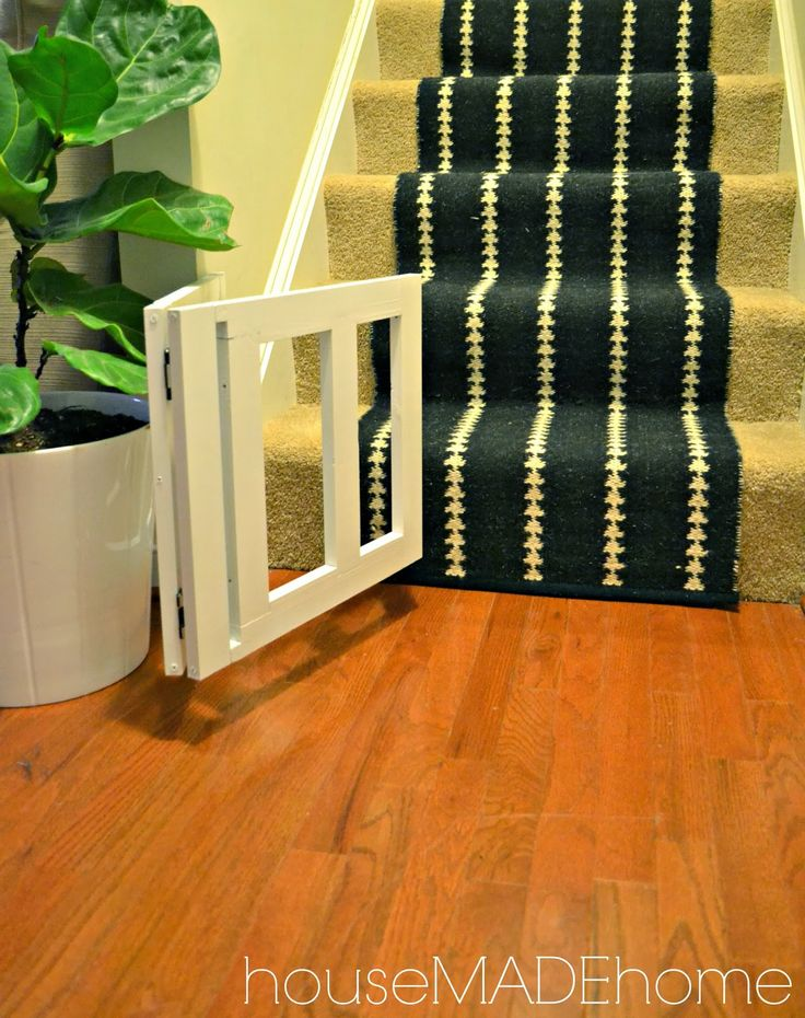 House Made Home: DIY Dog Gate from a Bench - A Tutorial