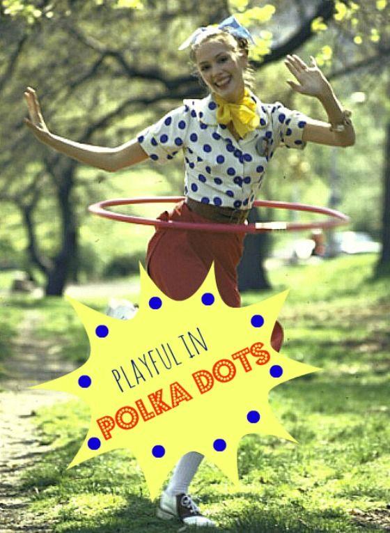Playful In Polka Dots #vintage #retro #fashion