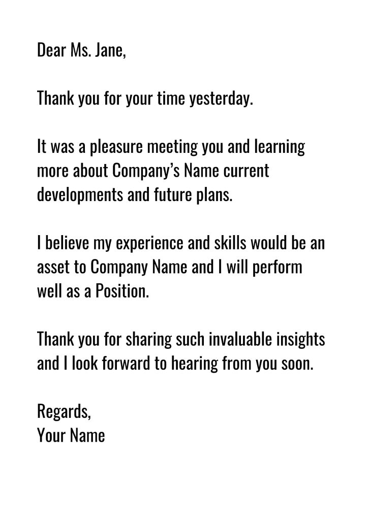 thank you email after job interview in 2020