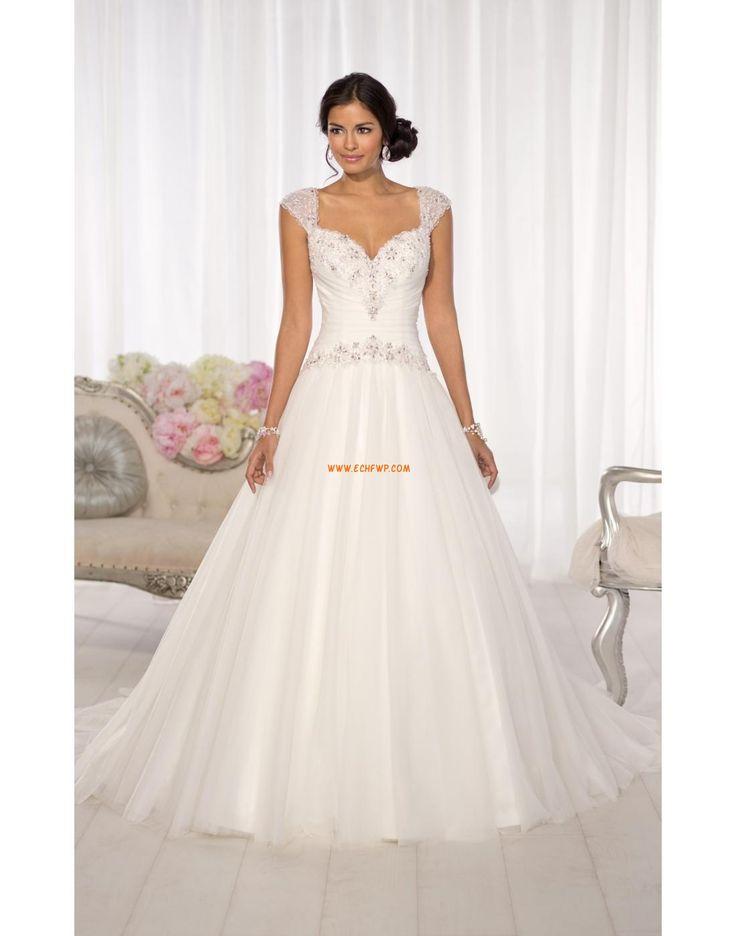 Ősz 2013 Hát nélküli Természetes Menyasszonyi ruhák 2014