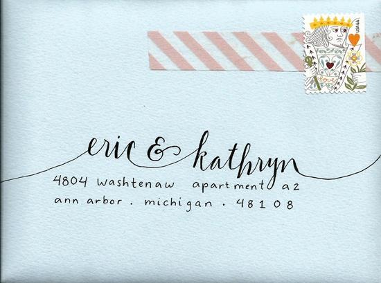 washi tape envelope.