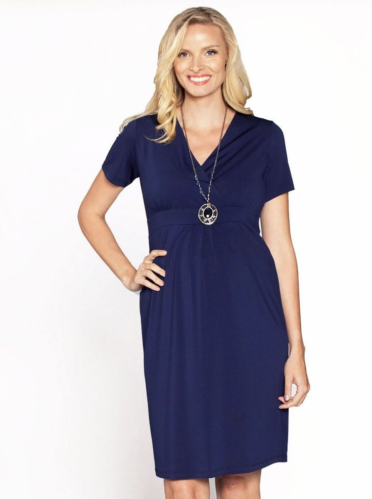 Our super soft jersey dresses are designed to fit throughout your pregnancy and flatter your growing curves.  With tie back details to show your beautiful curves.   Our stylish dress drape the pregnant figure for effortless style throughout your nine months and beyond. It is perfect for work  and can be easily transitioned for day to night glamour. Add a cardigan for when it gets cooler    Fabric: 95% Polyester 5% SpandexStyle No. 8213C