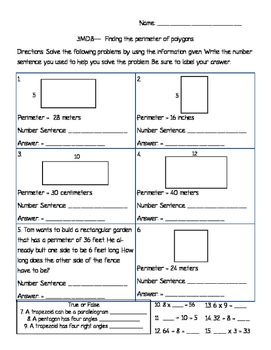 This worksheet will help students deepen their understanding of finding the perimeter of a polygon when not all information is given. This worksheet should be used after perimeter has been taught and when you are moving into finding the missing side of a polygon based on the information given.