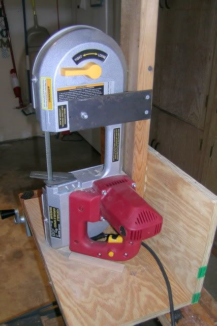 A simple stand for the Harbor Freight portable bandsaw. - The Knife Network Forums : Knife Making Discussions