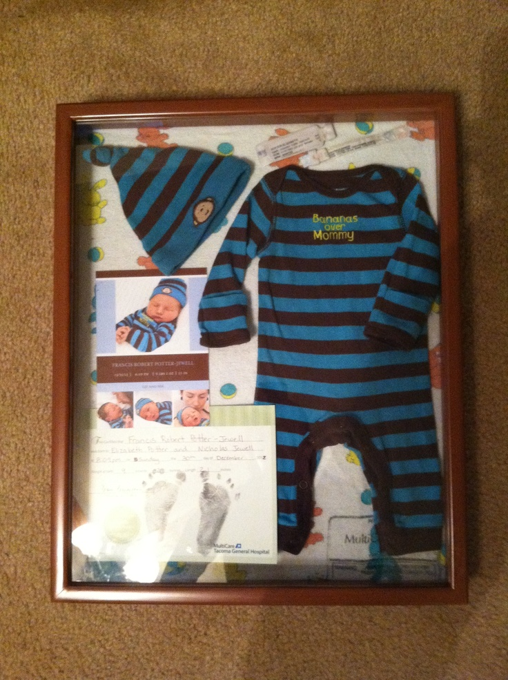 Newborn shadow box. Finally finished mine...2 months later ;)