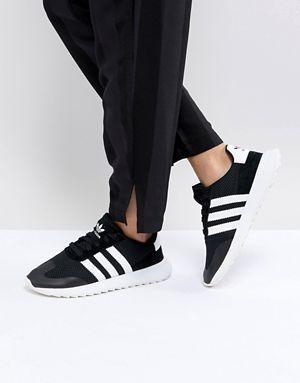 60a4515f25c12f adidas Originals FLB Runner Sneakers In Black