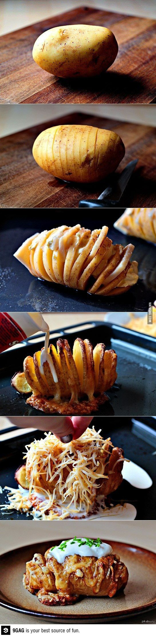 A new take on a baked potato.