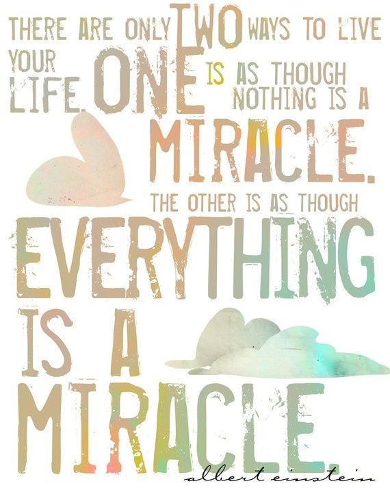 Albert Einstein Quotes Miracle Daily Inspiration Quotes