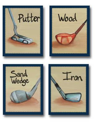 Little Golf Pro Nursery Bedding Art 4 baby boy room decor Set of 4 paper  prints32 best Golf Boys Bedroom ideas images on Pinterest   Boy bedrooms  . Golf Decorated Rooms. Home Design Ideas