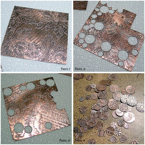 Making Jewelry after Metal Etching by Robin Koza