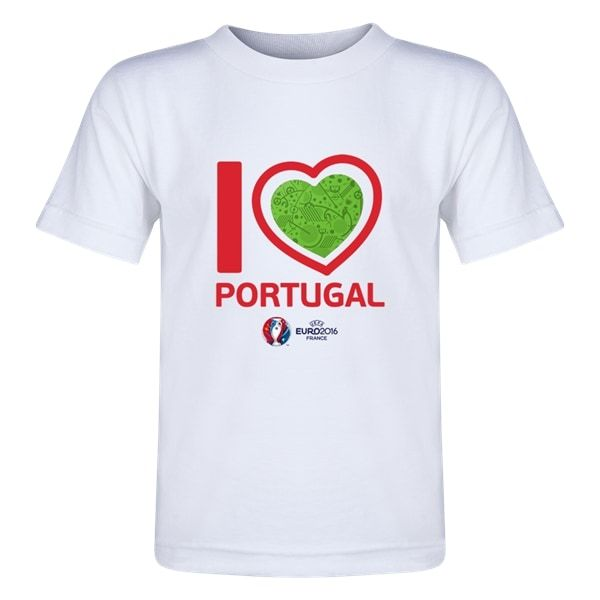 Portugal Euro 2016 Heart Toddler T-Shirt