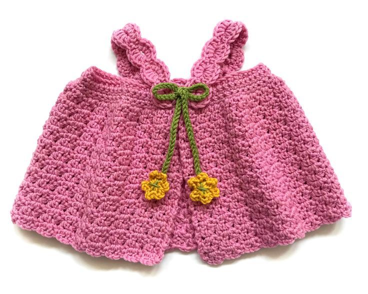 Crochet Patterns - Lea Baby Pinafore by Deborah O'Leary Patterns #easy #crochet #baby #patterns