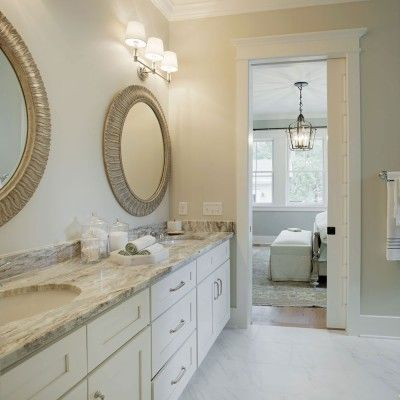 Master Bath Southern Living Inspired Home At Habersham Southernliving The Neutral Pallet Flows Naturally Into The Master Bath Creating An Overall