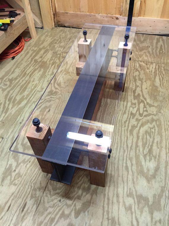 Industrial I Beam Coffee Table/ Modern Coffee By AnvilandVise