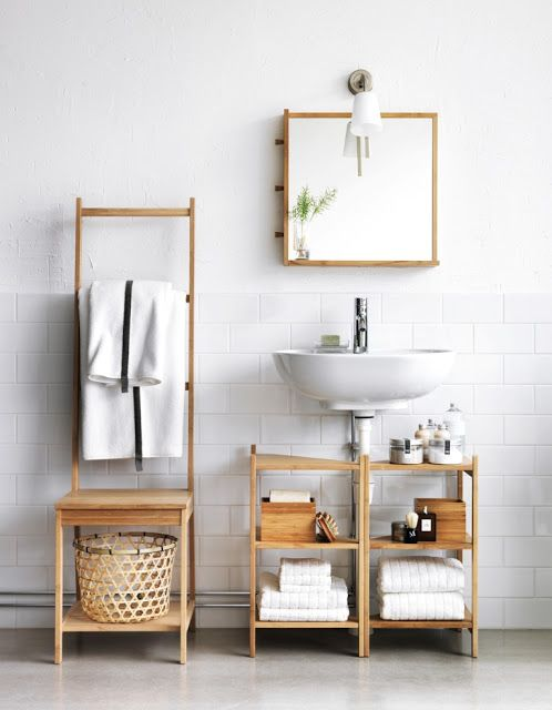 Under Sink Storage For Pedestal Sink : ... Home Pinterest Clever bathroom storage, Pedestal and Under sink