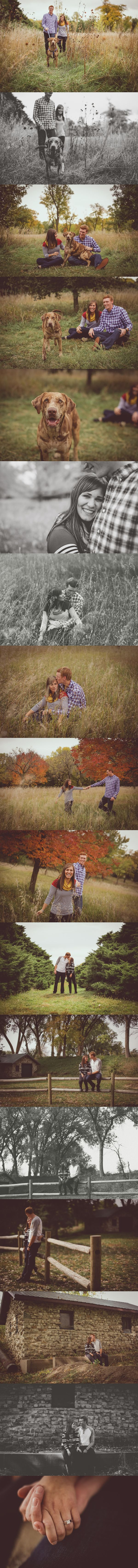 'Kaitlin & Jordan (and their dog Chevy!) share a love of being outdoors so Pioneers Park seemed like the perfect place to capture their love on a beautiful October day! They will celebrate their marriage this summer.' - Ashley Crawford Photography   Ashley Crawford Photography