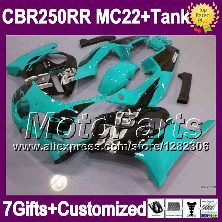 Голубой черная майка для HONDA MC22 CBR250RR 1990 1991 1992 1993 1994 новый голубой blk # 141 CBR 250RR CBR250 RR 90 91 92 93 94 обтекатели