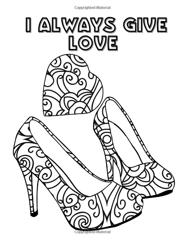 209 Best Shoes Coloring Pages For Adults Images On Pinterest