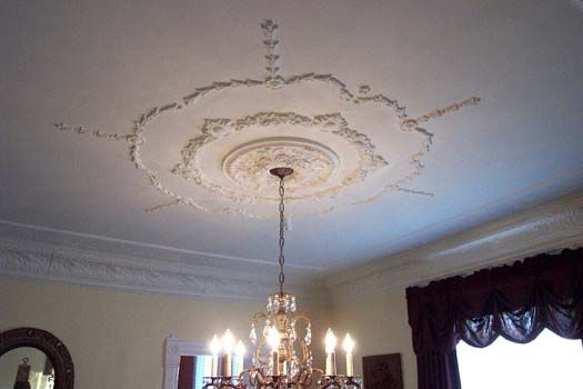Decorating Ideas for creating DIY plaster ceiling designs using plaster molds