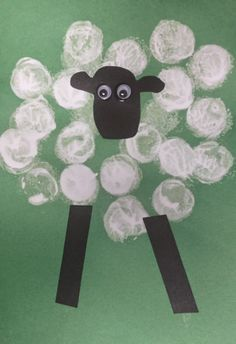 Cork stamped sheep for shepherds to watch over. :) Love, Laughter and Learning in Prep: Cheap & Cheerful Christmas Crafts!