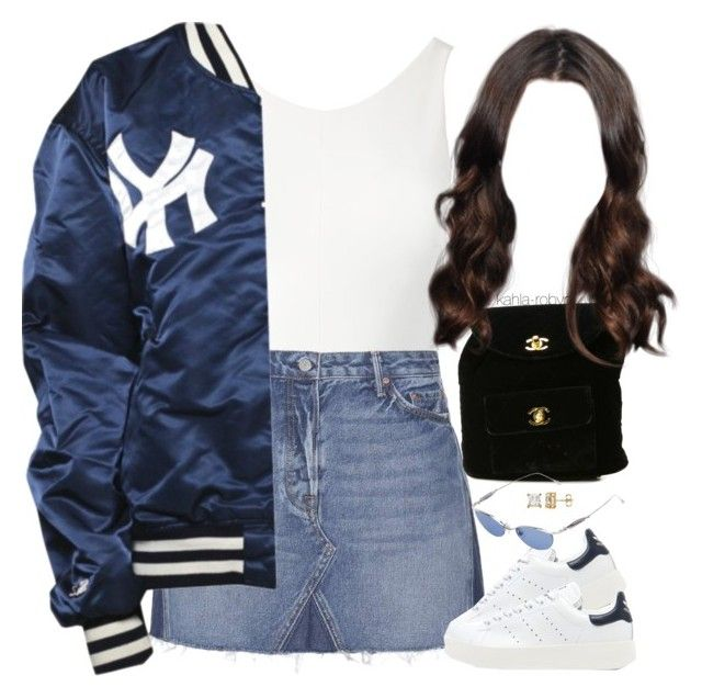 """""""CRZY   III   XXVI   XVII"""" by kahla-robyn ❤ liked on Polyvore featuring Sans Souci, GRLFRND, adidas Originals, Chanel and Jean-Paul Gaultier"""